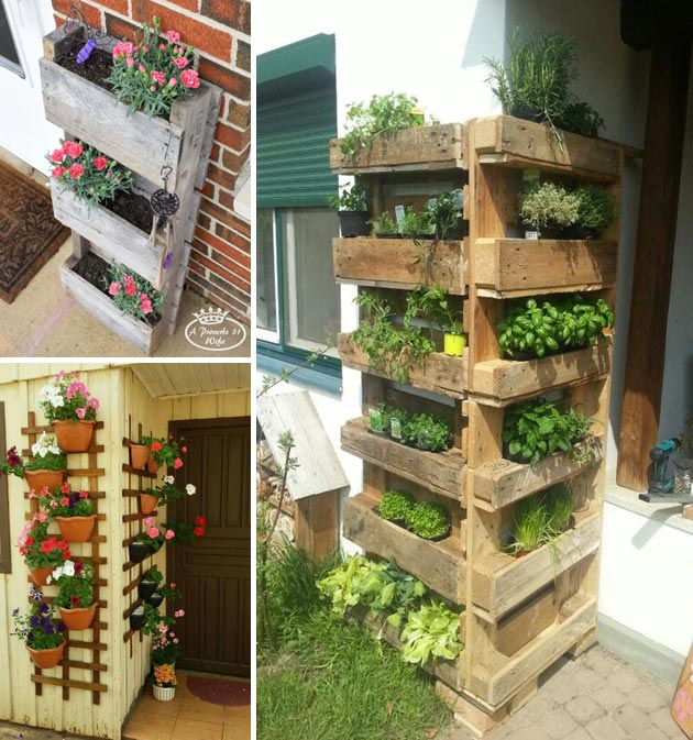 creating a vertical pallet planter