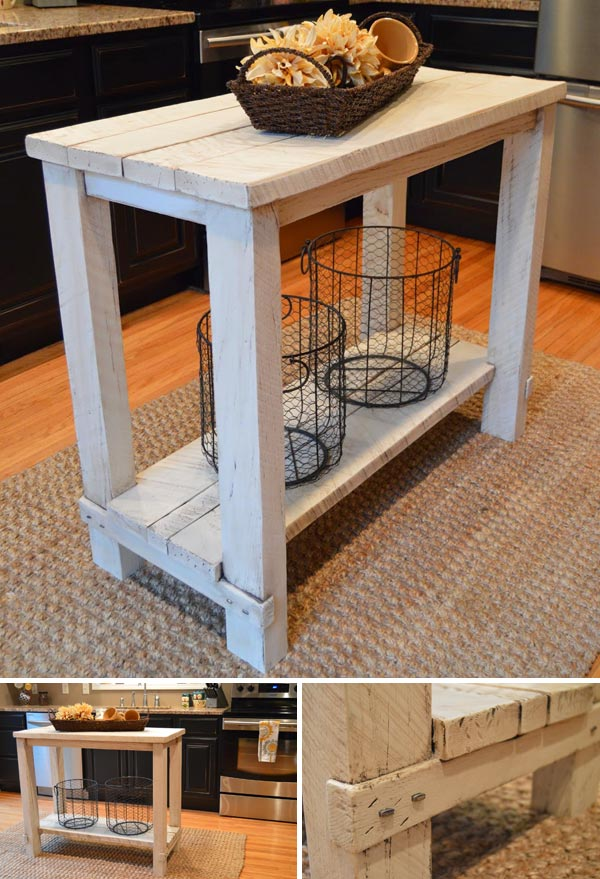 wood kitchen island table