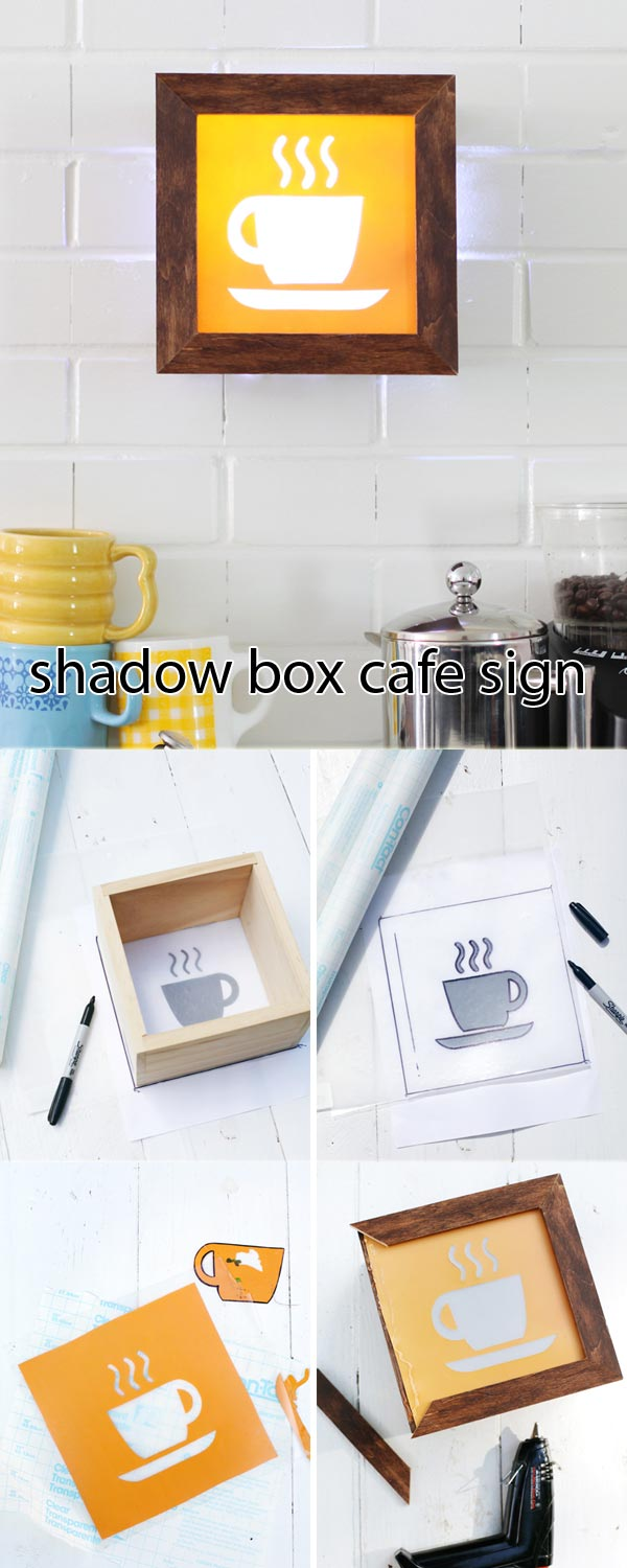 shadow box cafe sign