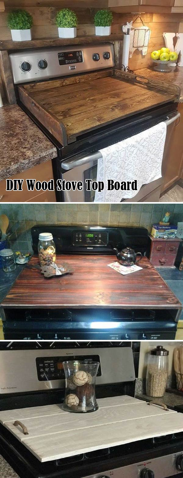 Wood stove top board