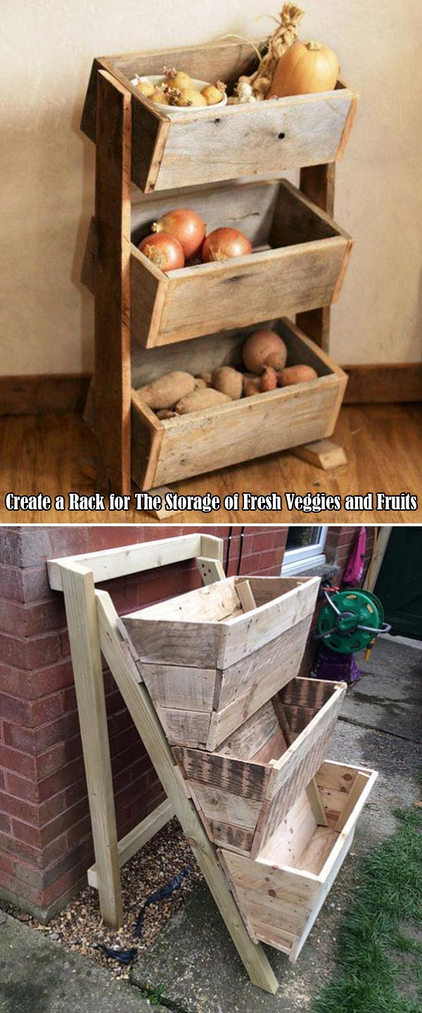Create a Rack for The Storage of Fresh Veggies and Fruits