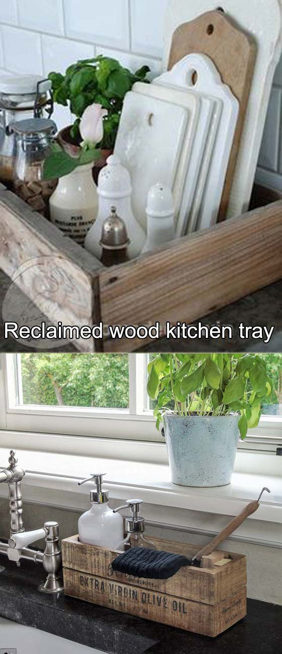 15 Diy Kitchen Decor Projects Done With Reclaimed Wood