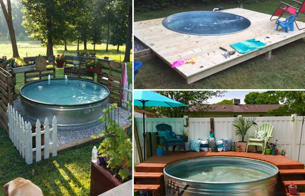 Galvanized Stock Tank Turned Into Backyard Private Pool Proud Home Decor