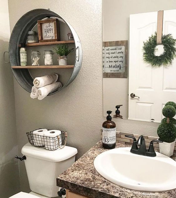 15 Great Diy Farmhouse Decor Ideas That You Must Try: 27 Farmhouse Inspired Bathroom Storage You Should Try