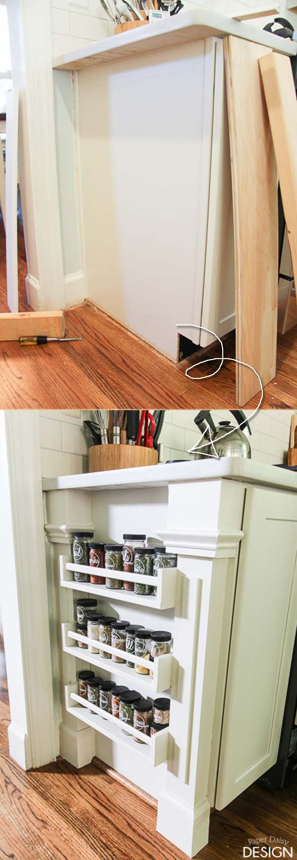 Top 9 Awesome Ideas to Use Narrow or Dead Space in Kitchen ...