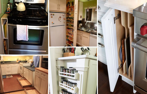 Top 26 Awesome Ideas to Use Narrow or Dead Space in Kitchen – Proud ...