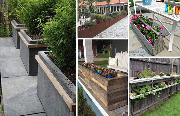 Amazingly Creative Long Planter Ideas, Patio Planters Ideas