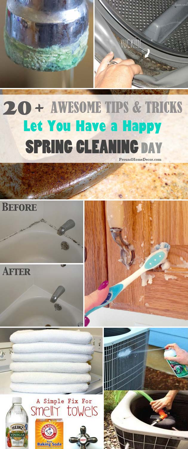 Awesome Tips and Tricks Let You Have a Happy Spring Cleaning