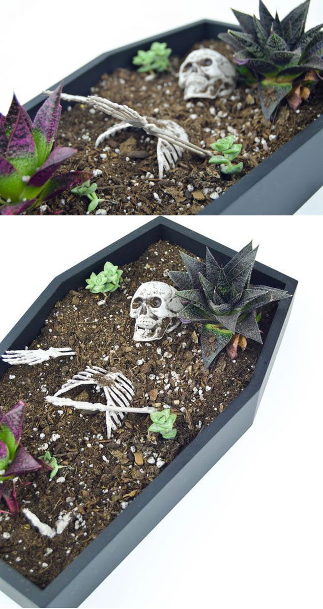 13 Ideas To Make Creepy Diy Halloween Planters Proud Home Decor